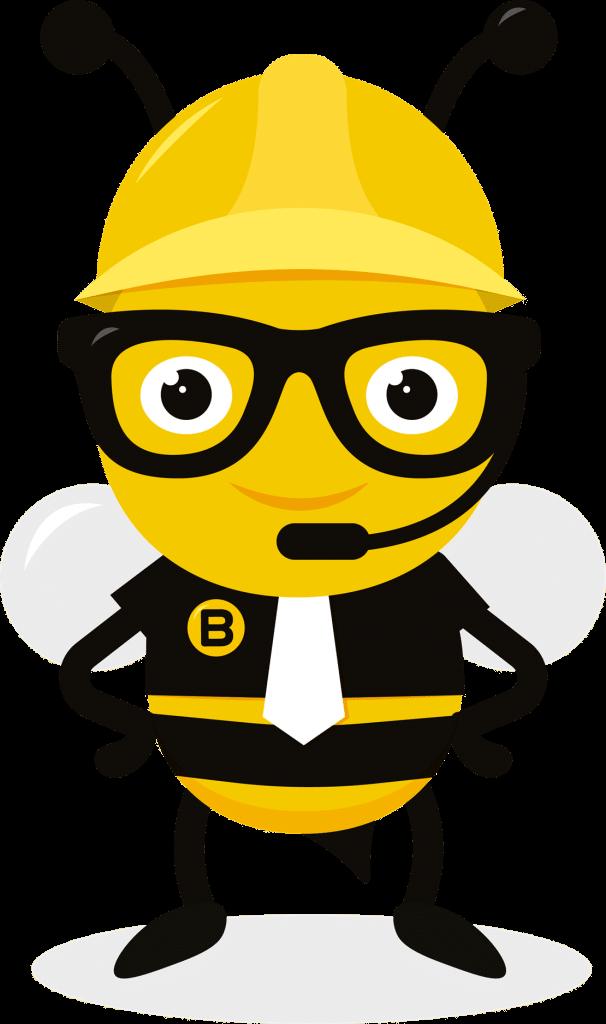 Stående bi med hat