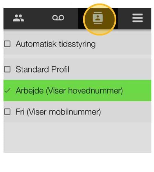 Profilstyring i App