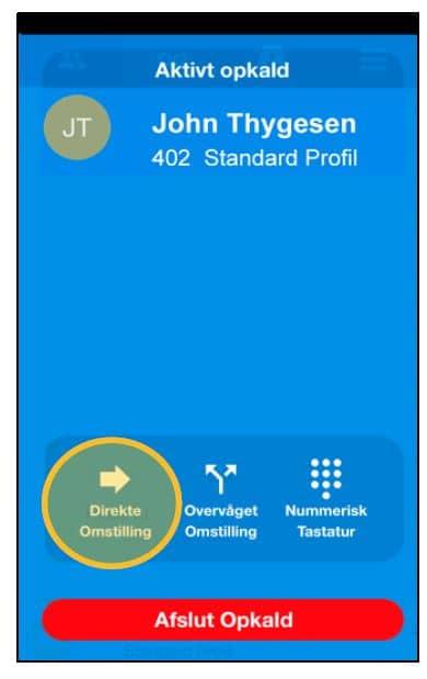 Direkte omstilling via App