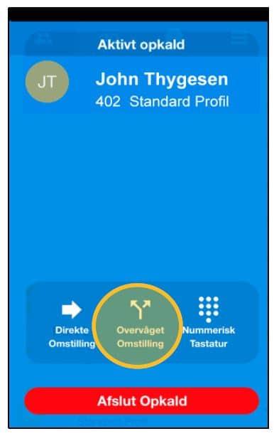 Overvåget omstilling via App